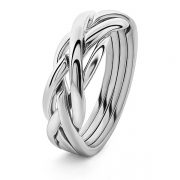 Puzzel-ring zilver braid